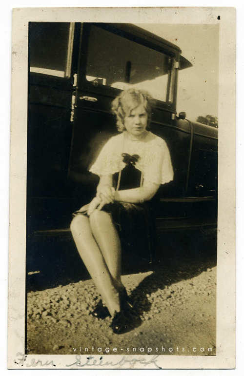"Vintage photograph of a woman named ""Fern."""
