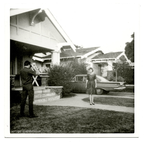 Vintage snapshot of a snapshot being made