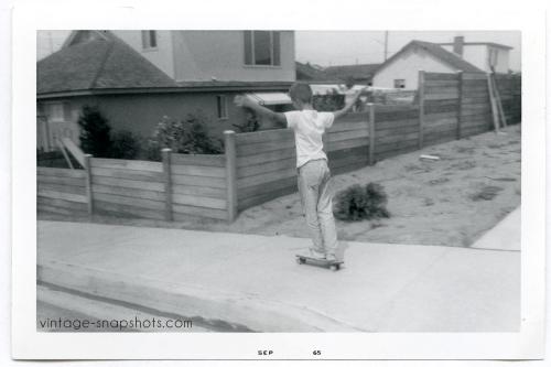 skateboard-boy-1960s-vintage-snapshot-photograph
